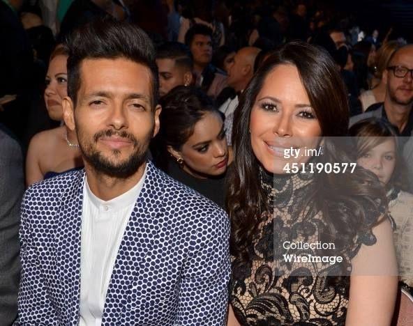 Robi Draco Rosa y Angela Alvarado en los Latin Grammy 2013.