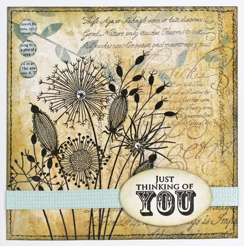 JGS300 Going To Seed - £5.95 - A great range of Woodware Clear Stamps from The Art of Craft