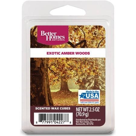 Better Homes And Gardens Wax Cubes Exotic Amber Woods