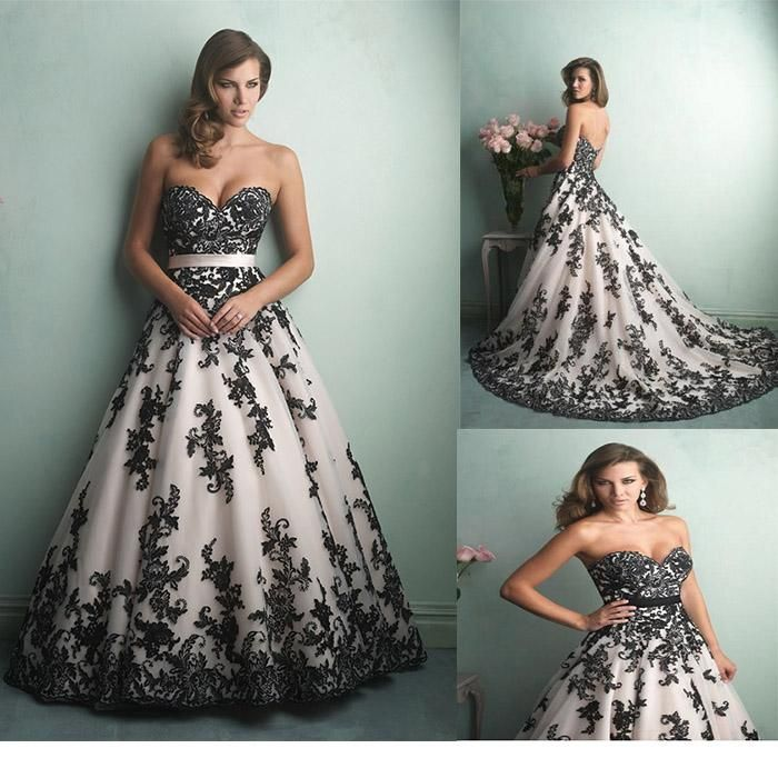 Famous White With Black Wedding Gowns Crest - Wedding Dresses and ...