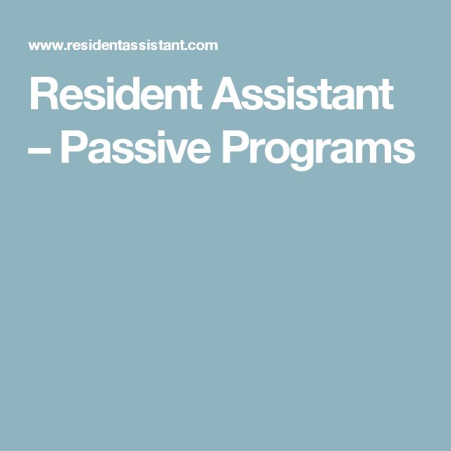 Best 25+ Ra passive programs ideas on Pinterest Ra programming - Resident Assistant Job Description