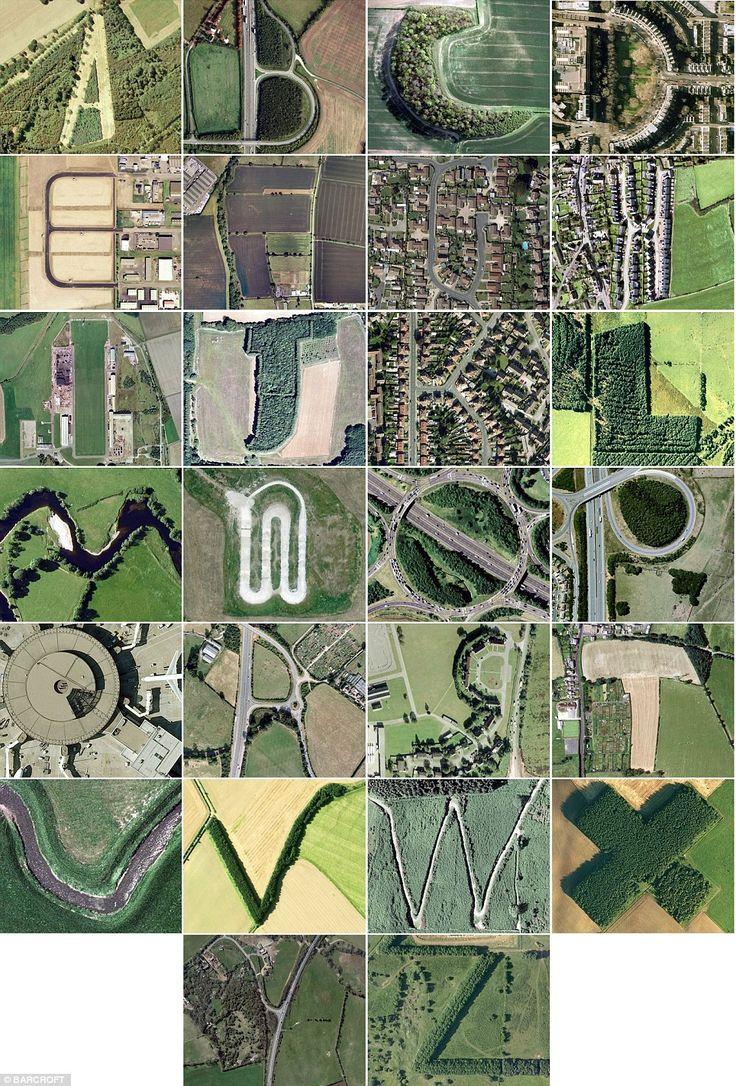 Google Earth alphabet in Britain