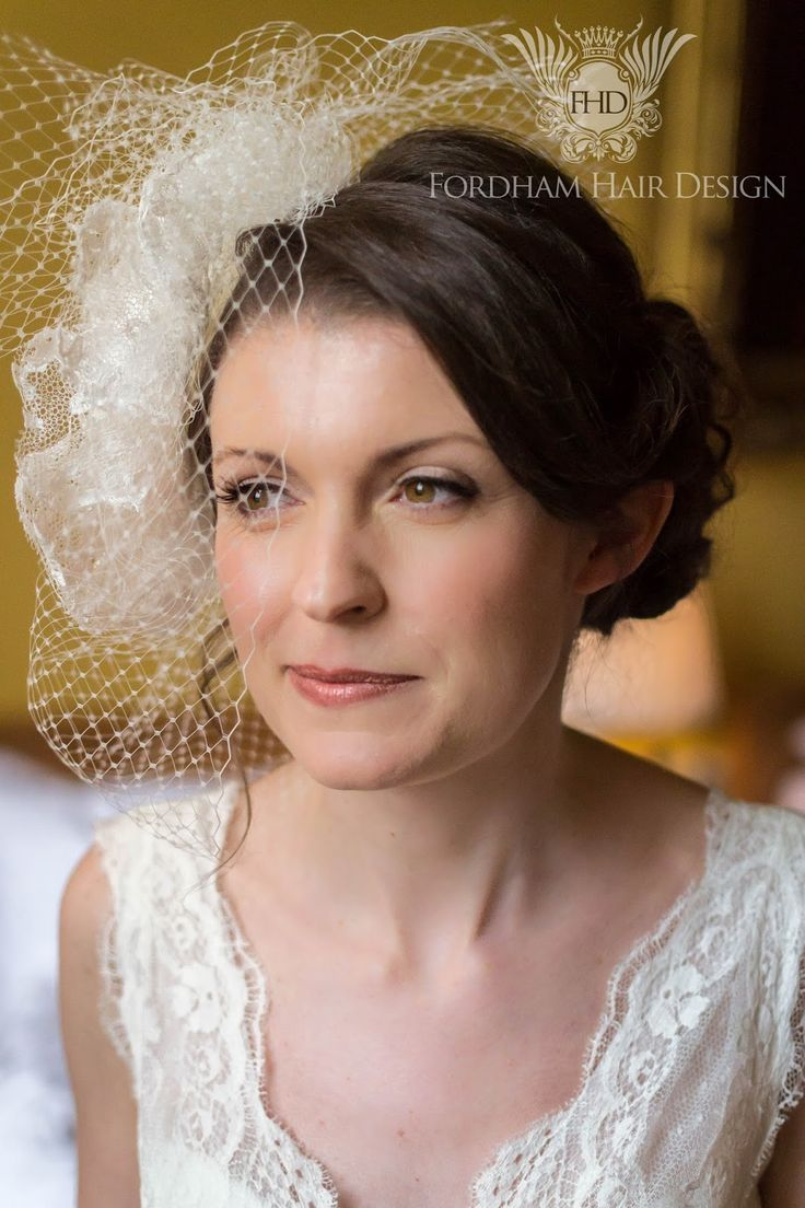 Wedding hair accessories gloucestershire - Beautiful Bride With Tousled Updo Hai Rstyle And Birdcage Veil At Elmore Court Wedding Gloucestershire