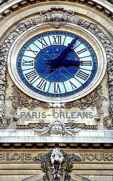 Giant train station clock in the Musée d'Orsay, Paris, France