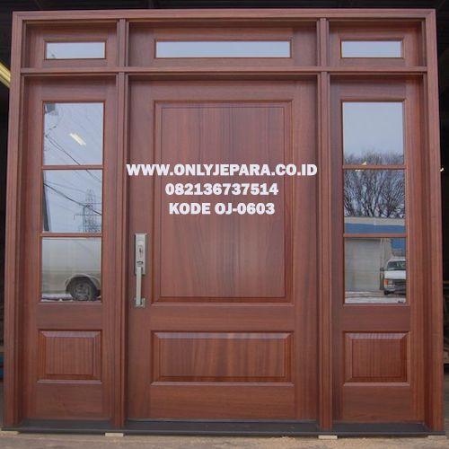 Pintu Rumah Jati Minimalis Double