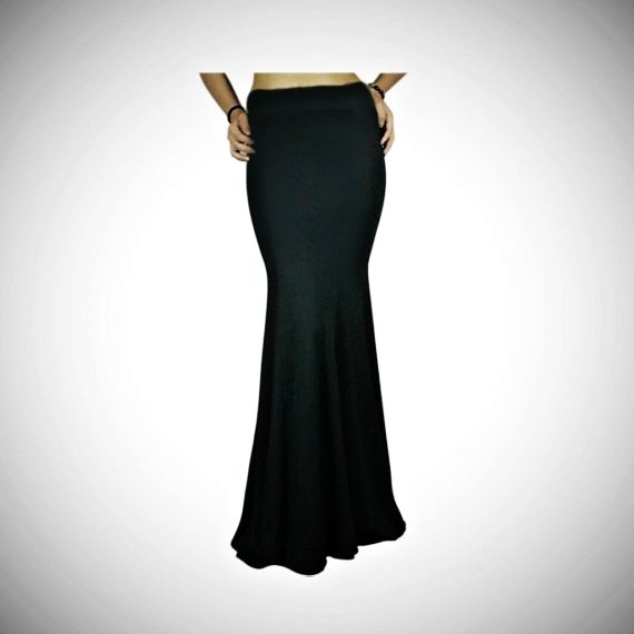 Full length bias cut skirt - flares from just below the hips
