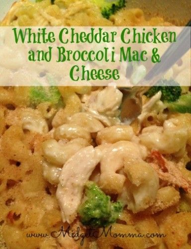 white cheddar Chicken and Broccoli mac and cheese .jpg sub out mac for ...