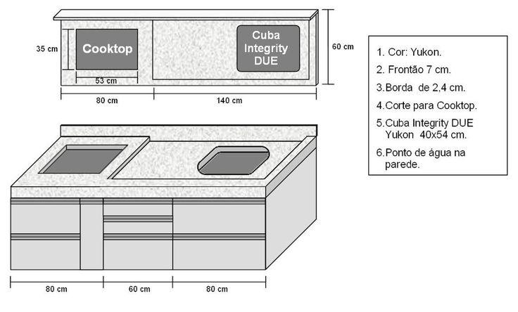 bancadas de cozinha de 1 metro - Pesquisa Google