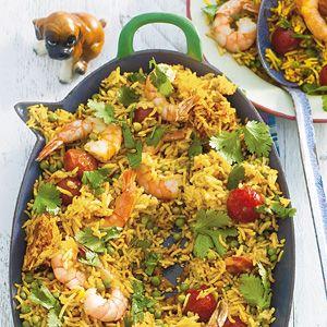 Recept - Rijst en garnalen uit de oven - Allerhande