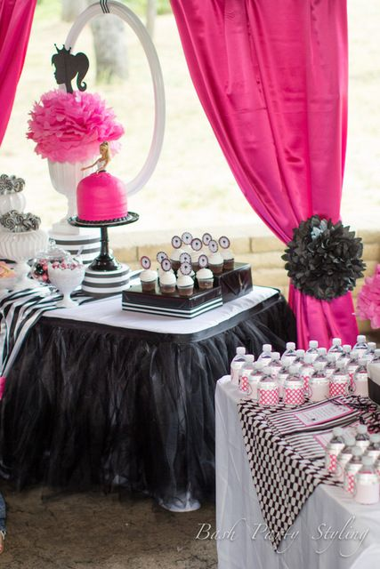 45 best images about Vintage Barbie PinkBlackWhite Party Theme