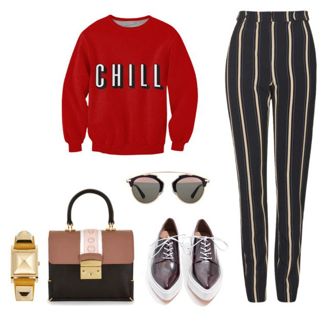 """CHILL"" by s2pring on Polyvore featuring Jeffrey Campbell, Topshop, Christian Dior and Hermès"