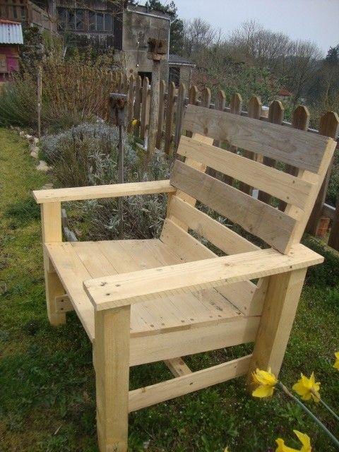 fauteuil de jardin en palettes