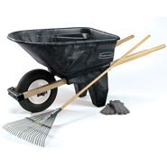 Rubbermaid contractor wheelbarrow