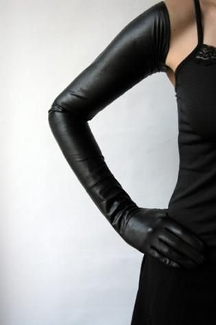 My Sensual indulging up-shoulder Gloves  Extreme length, very elegant. #gloves #leather #kinky