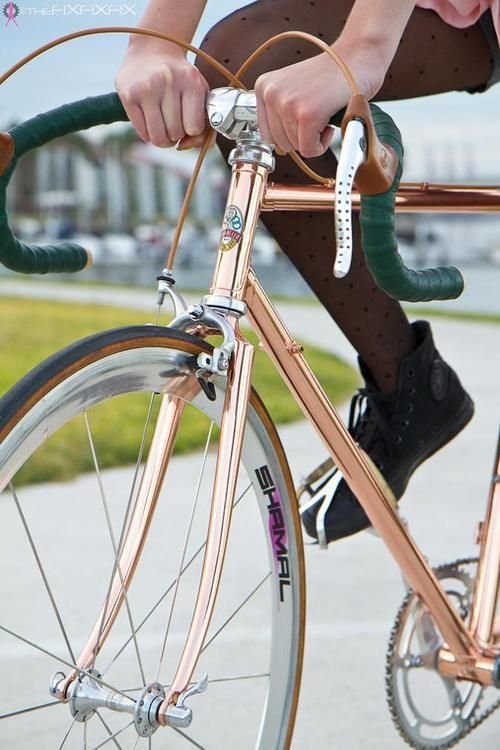 deepsection: delightfulcycles: Copper fixie Gorgeous.