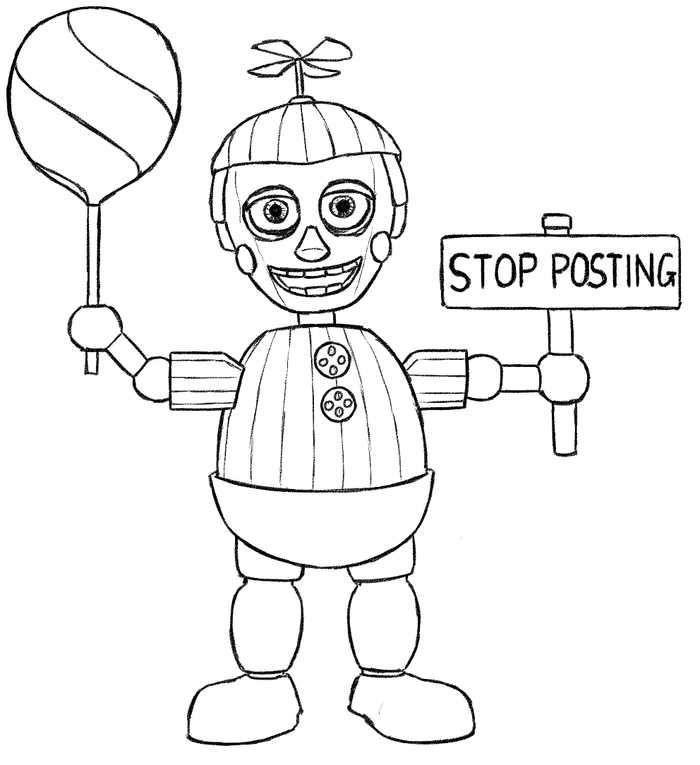 Balloon Boy Phantom Five Nights At Freddys Coloring Pages In 2020 Fnaf Coloring Pages Coloring Pages For Boys Coloring Books