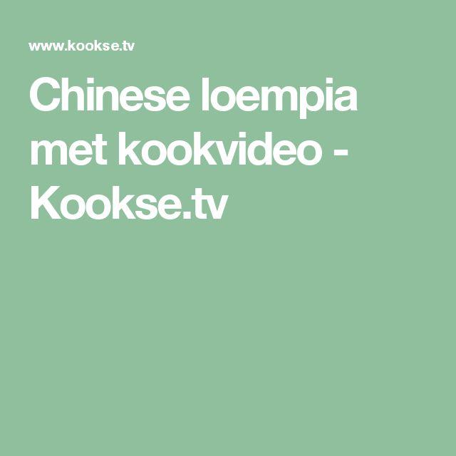 Chinese loempia met kookvideo - Kookse.tv