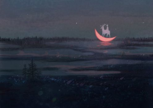 Summer night in the tundra by JuliaNikitina