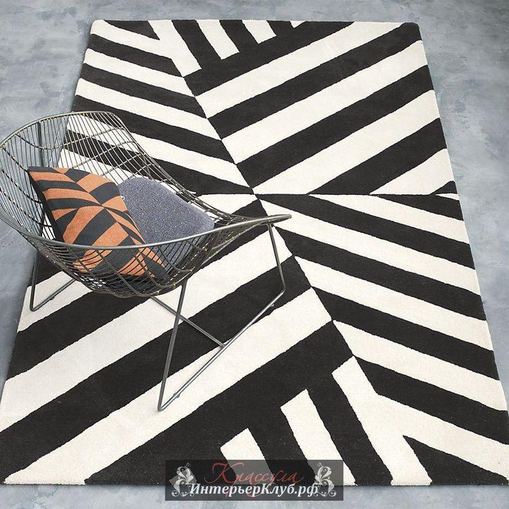 Черно-белый ковер из коллекции Ленни Кравиц CB2