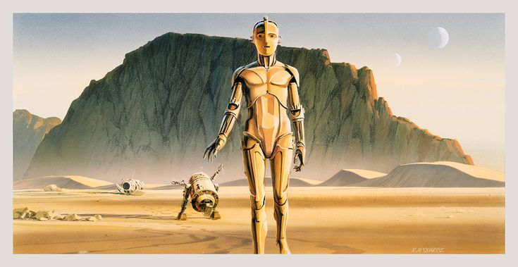 In the mid-1970s, when George Lucas was struggling to persuade 20th Century Fox that his script about a farmboy who teams up with a wizard, a pirate, and a space-ape to rescue a princess from a black knight was worth doing, he turned to the talents of illustrator Ralph McQuarrie.