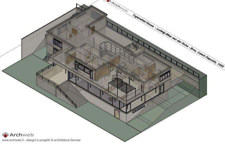 Tugendhat House 3D Autocad model