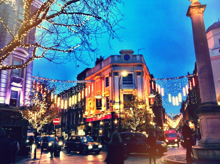 Seven Dials, Covent Garden where I go for hot chocolate on some writing days