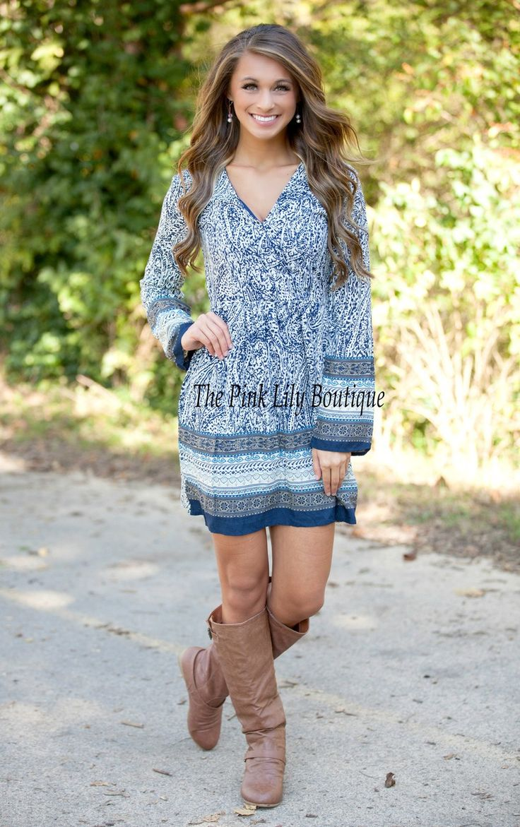 The Pink Lily Boutique - The Blue Bayou Dress , $37.00 (http://thepinklilyboutique.com/the-blue-bayou-dress/)