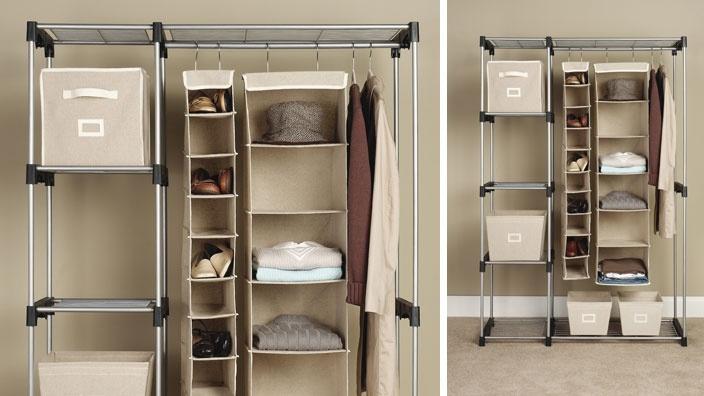 Double Rod Closet: Closet Spaces, Organizations Ideas, Closetstorag Organizations, Laundry Rooms, Instant Closet, Rods Closet, Men Ocd Feeding The Addiction, Spaces Savers, Closet Storage