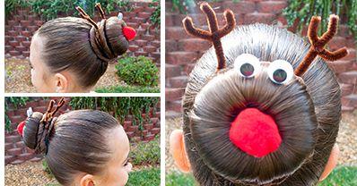 Rudolph Hairstyle http://www.handimania.com/craftspiration/rudolph-hairstyle.html