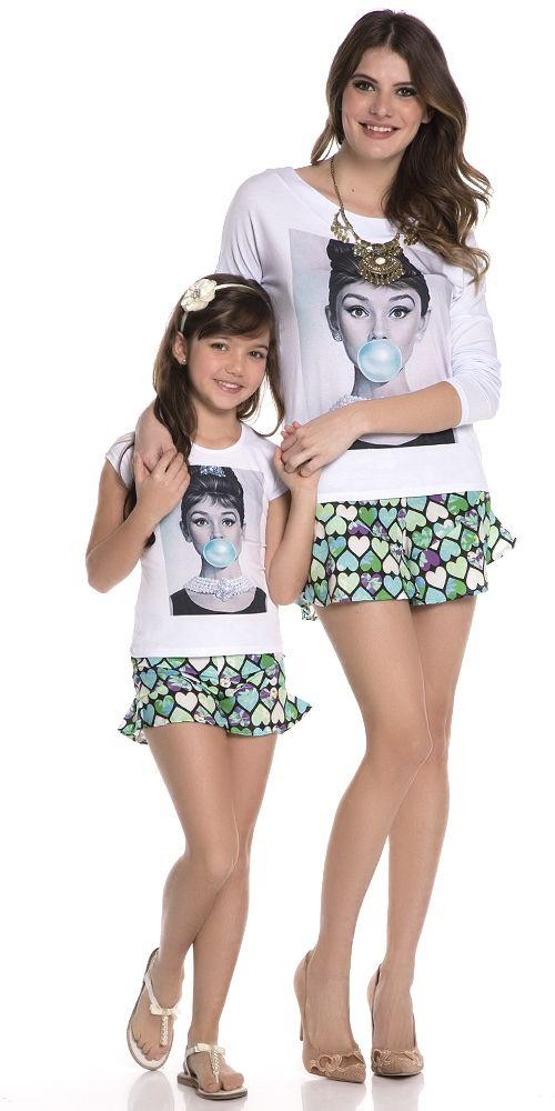 Camiseta Audrey Infantil | OLIVIAS TAL MÃE TAL FILHA | Olivias