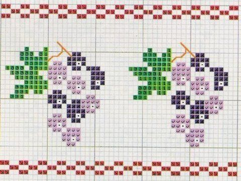 Knitting Stitch In Crossword : 73 best images about Grapes on Pinterest Free cross stitch patterns, Floral...