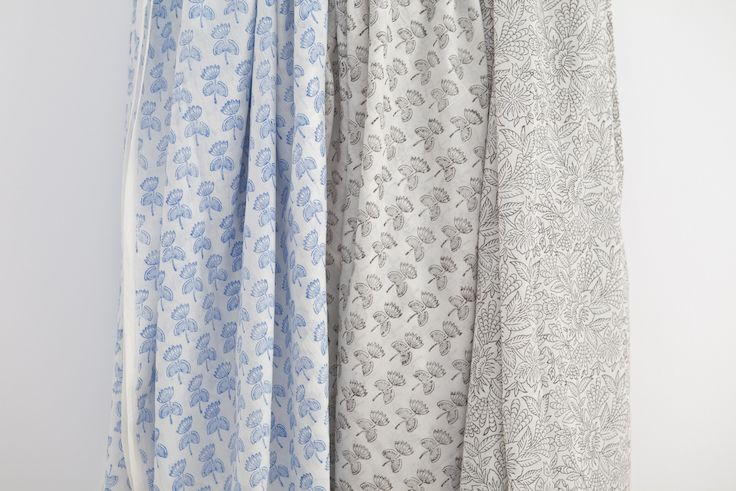 A collection of our hand block printed voile summer bed sheets from HARANA