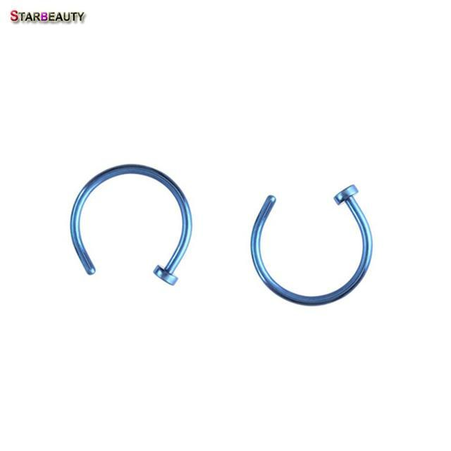 Starbeauty 2pcs/Lot Fake Lip Ring C Clip Nose Ring Kylie lip Piercing Falso Nose Rings Hoop for Women Body Jewelry