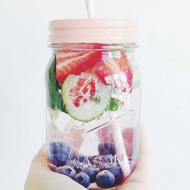Blueberry, Cucumber & Strawberry 🍇🍓💦 .  Beautiful skin and detox your body 😉😍 . . . #infusedwaterdetox #detox #hydrating #glowingskin #beautifulskin #lifestylechange #weightloss #diet #healthy #instawater