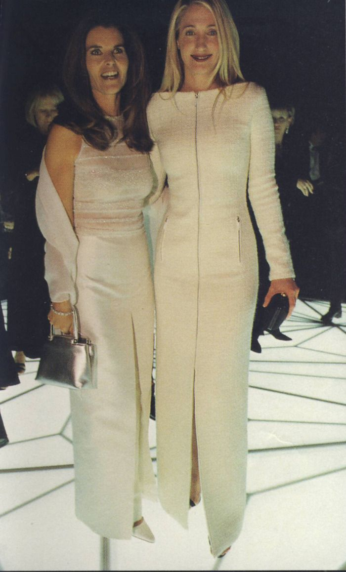 Carolyn Bessette-Kennedy with Maria Shriver
