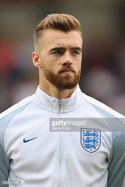 A portrait of Calum Chambers of England ahead of the European Under 21 Qualifier match between England U21 V Norway U21 at Colchester Community...
