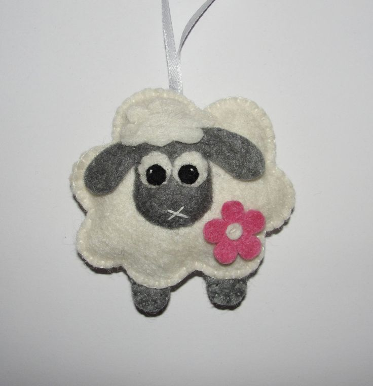 Wool Felt Sheep Ornament, Lamb Ornament, White Sheep, Baby Shower Gift, Nursery, Wall Decoration, Felt Animal, Xmas, Christmas, Tree Decor by NitaFeltThings on Etsy