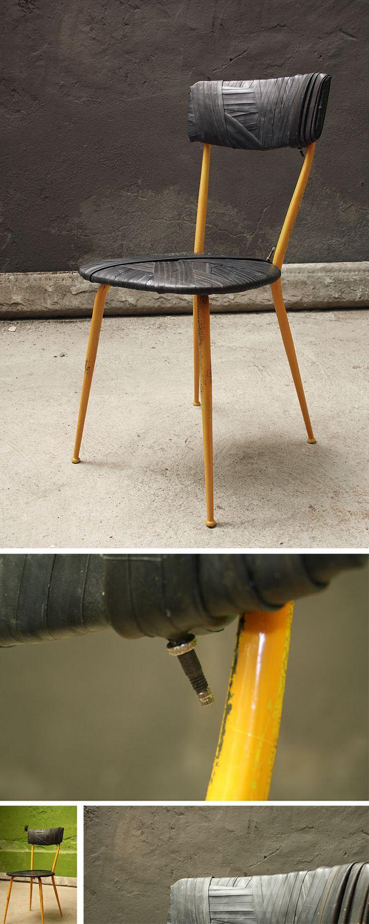 sedia da camera…d'aria: il risultato finale è così piacevole che la prossima sedia la provo a gonfiare!