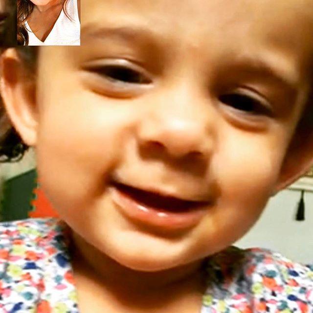 lil @sky.krishna turns ONE today! Masis precious. Happy birthday baby girl #facetimemoments @madhumalati s twin ❤️💋 @divya_jyoti @nilesarkisian @vimlaakhouri