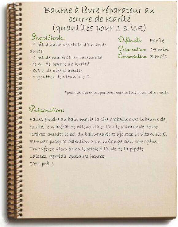 Recette de baume à lèvre maison au beurre de karité: nourrissant