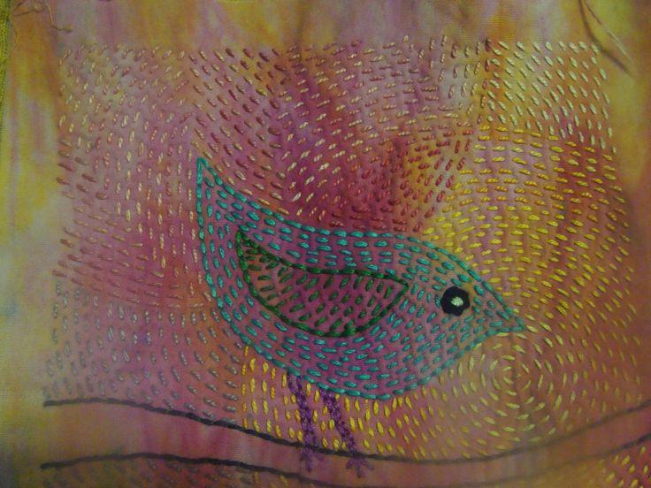 Gilli Theokritoff - kantha stitch                                                                                                                                                                                 More