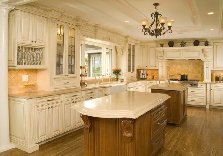 Ornate white kitchen for the home pinterest kitchens for Castle kitchen cabinets