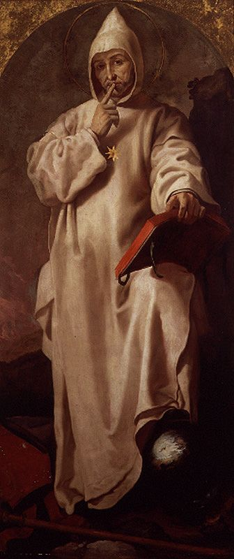 Francisco Ribalta  SAINT BRUNO (1625-27)    St. Bruno was the founder of the Carthusian Order, a Roman Catholic order dedicated to seeking God in silence and solitude. The painting was commissioned by the Carthusian monastery of Porta Coeli in Valencia, Spain.