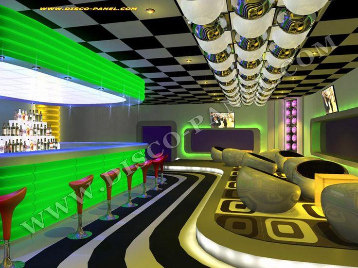 Bar Club Lounge Design | 70s RETRO MODERN NIGHT CLUB DESIGN – NEW BAR LOUNGE RET…