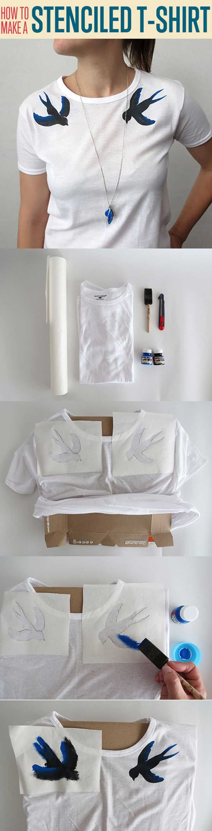 Arregla tú mismo tus viejas camisetas con estas 30 increíbles ideas