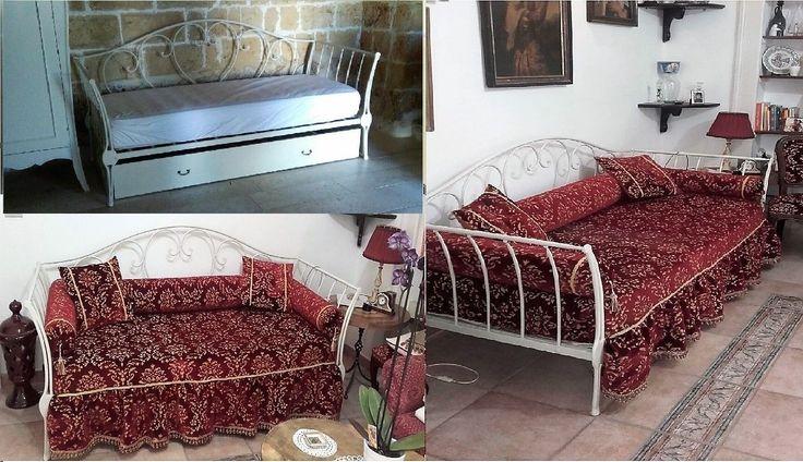 divano letto in ferro PIENO forgiato e battuto a mano | eBay
