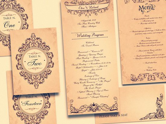 Vintage Wedding Invitation Cards Jpg 550 412