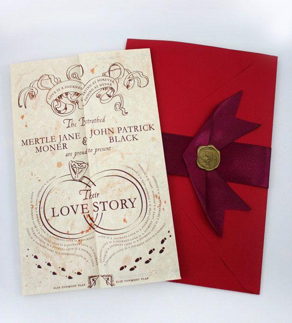 Romance Managed - Harry Potter Inspired Wedding Invitation SAMPLE