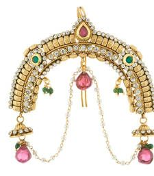 Buy Traditional Red Green Ruby & Stone Hair Pin Fashion Jewellery hair-accessory online