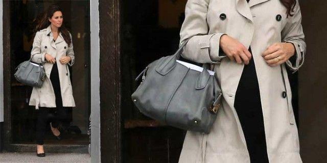 Kate Middleton : trench, pratiche ballerine e la borsa Tod's - Sfilate